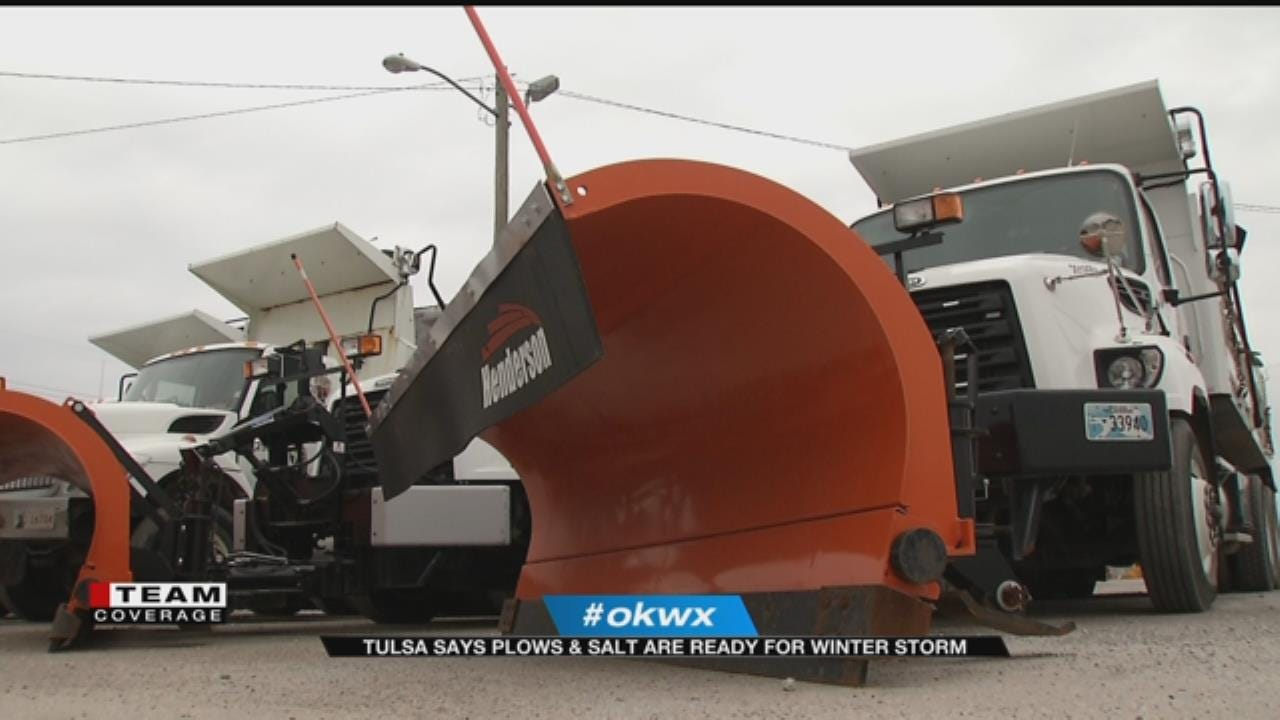 Coming Winter Storm Prompts City Of Tulsa Preparation