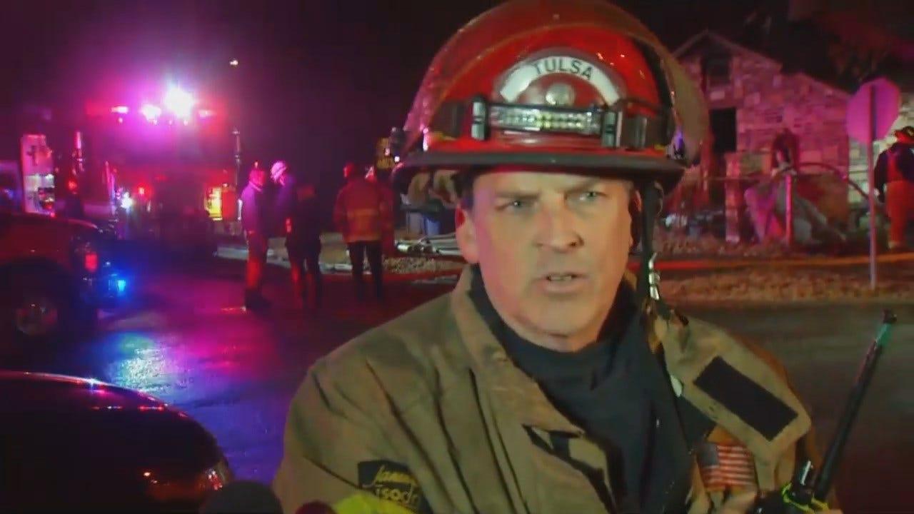 Tulsa Fire Captain: Couple Lucky To Escape House Fire