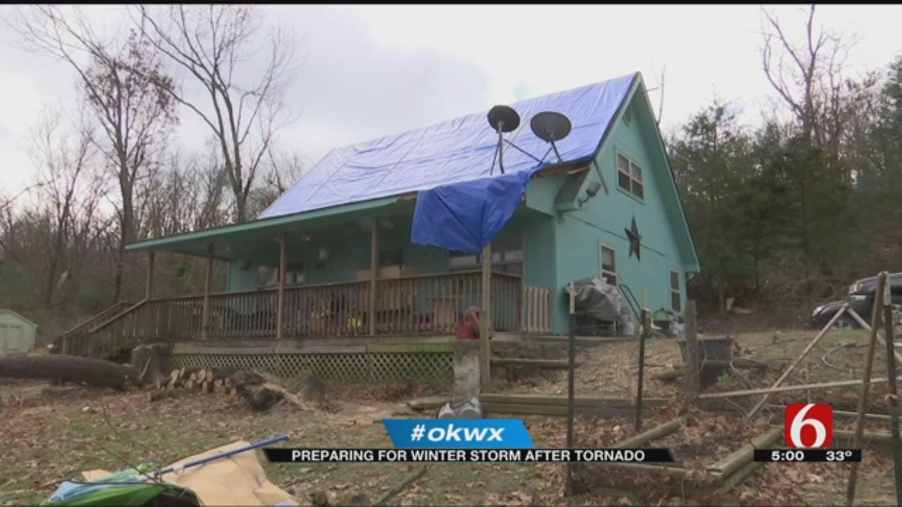 Cherokee County Residents Preparing For Winter Storm After Tornado