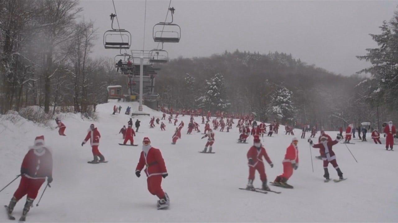 Skiing Santas Raise Money For Charity