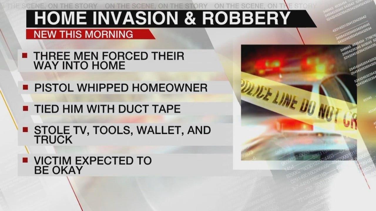 Homeowner Beaten, Robbed In East Tulsa