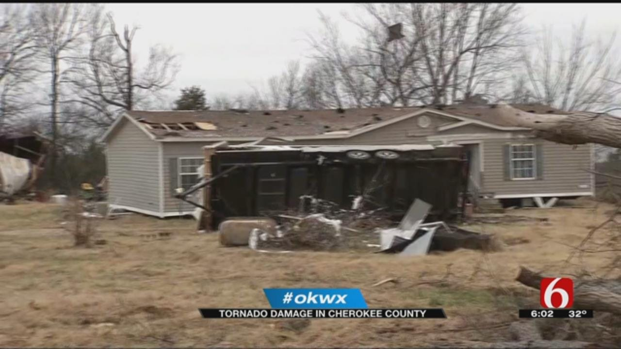 Residents Of Cookson Cleaning Up After Tornado