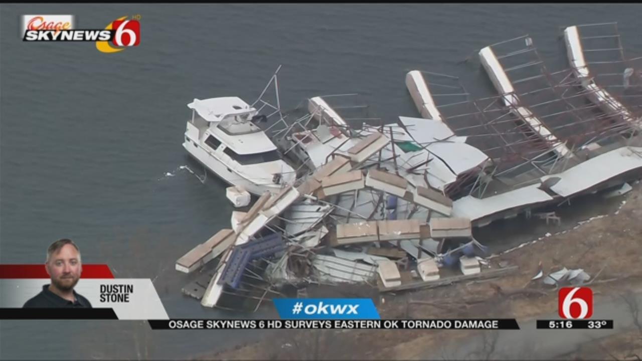 Osage SkyNews 6 HD Flies Over Path Of Destruction From Oklahoma Tornado