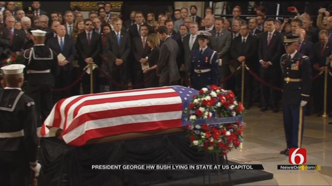 Nation Bids Farewell To H. W. Bush In Washington