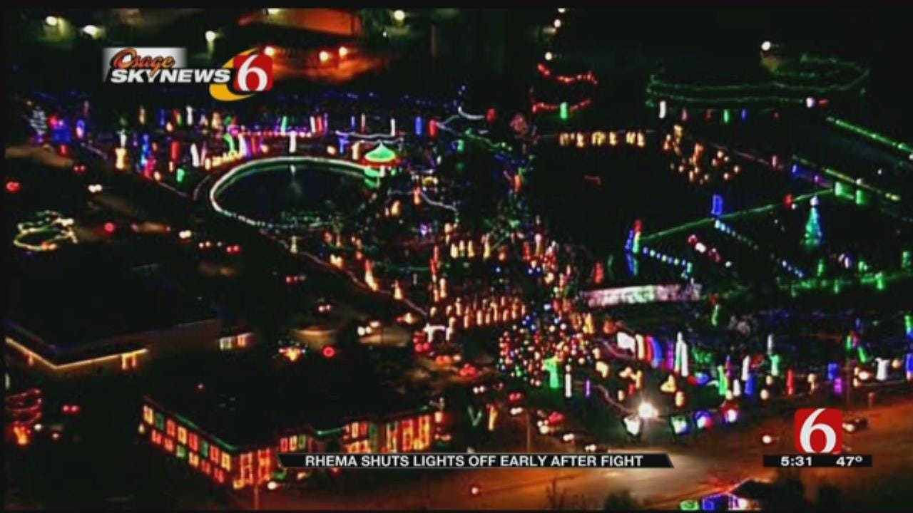 Rhema Shuts Light Display Off Early After Fight