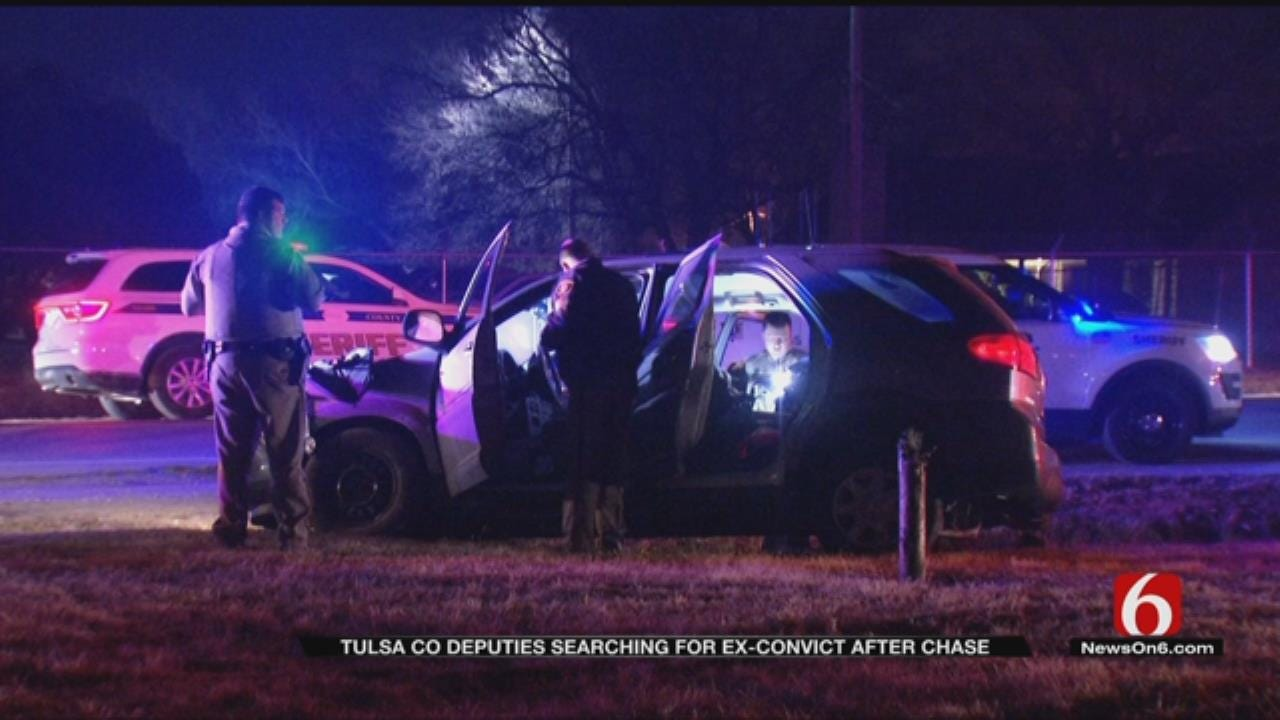 Tulsa Deputies Searching For Suspect In Overnight Chase