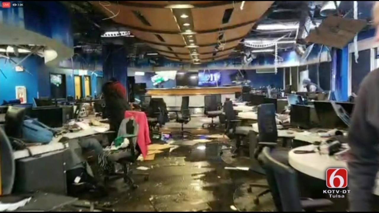 Quake Damage At KTVA, CBS Affiliate In Anchorage, Alaska