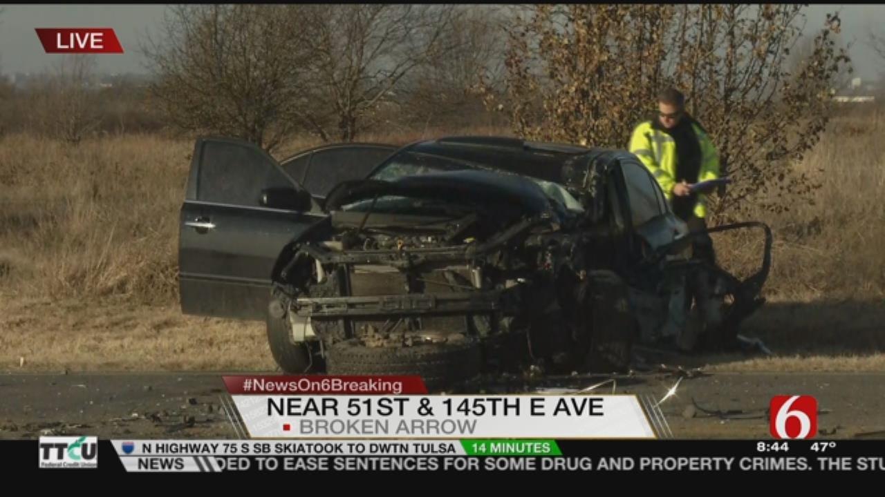 2 Teens Injured In Broken Arrow Crash