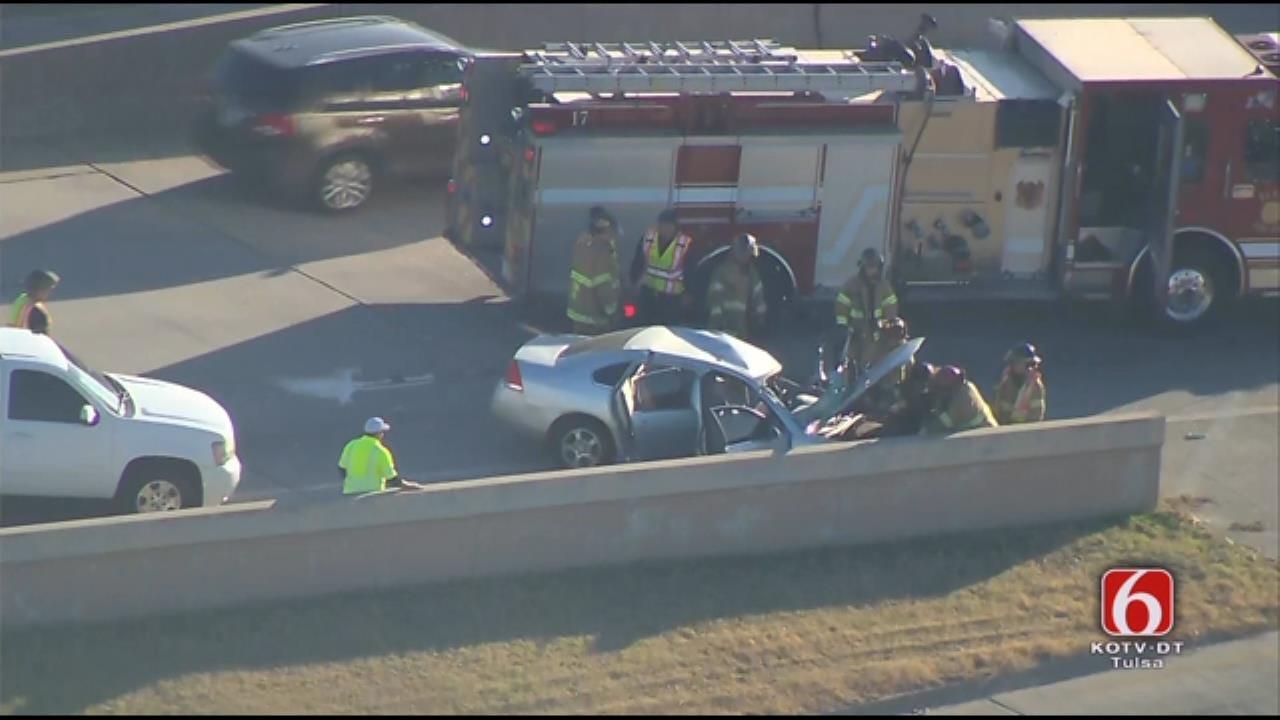 WATCH: Injury Crash On N Leg Of Tulsa IDL
