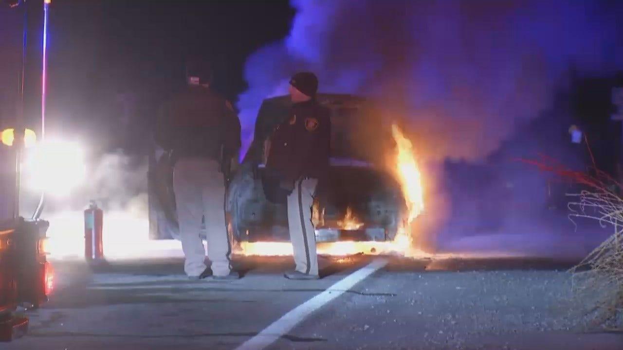 WEB EXTRA: Video Of A Tulsa Car Fire