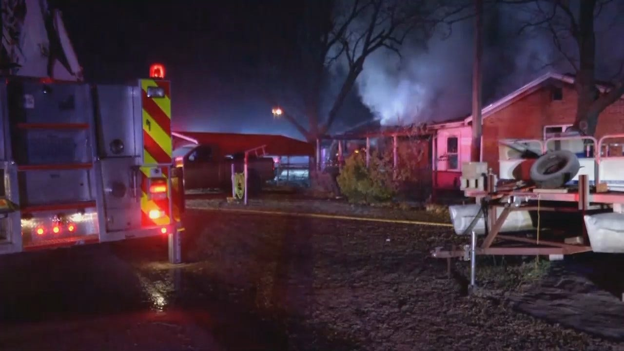 WEB EXTRA: Video From Scene Of Collinsville House Fire