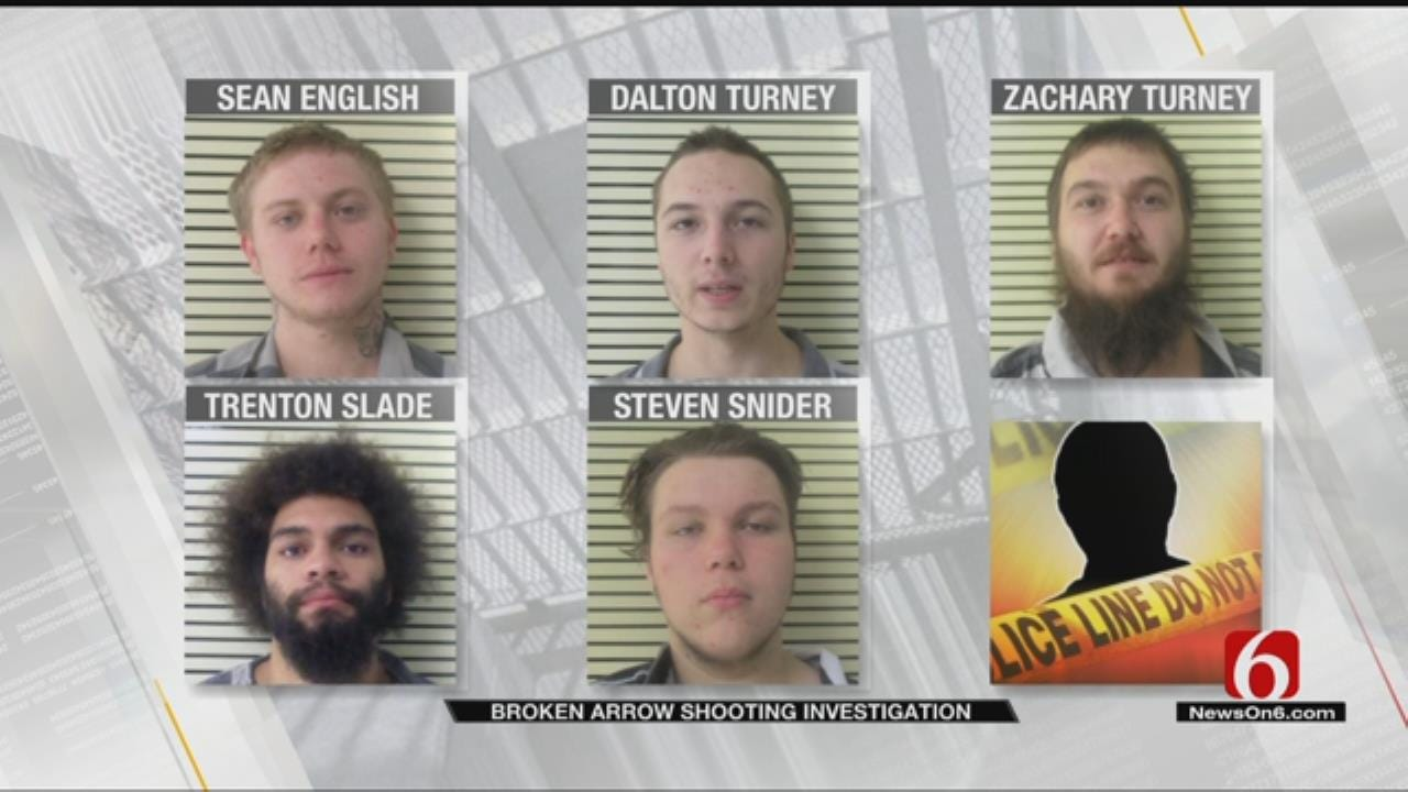 5 Charged In Broken Arrow Burglary That Ended With 1 Suspect Shot