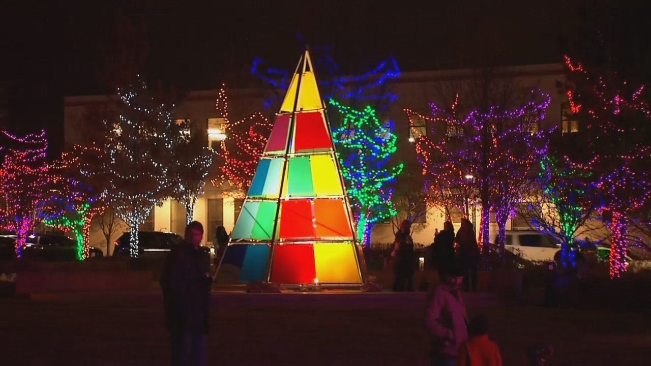WEB EXTRA: Tulsa's Guthrie Green Lights Up For Christmas