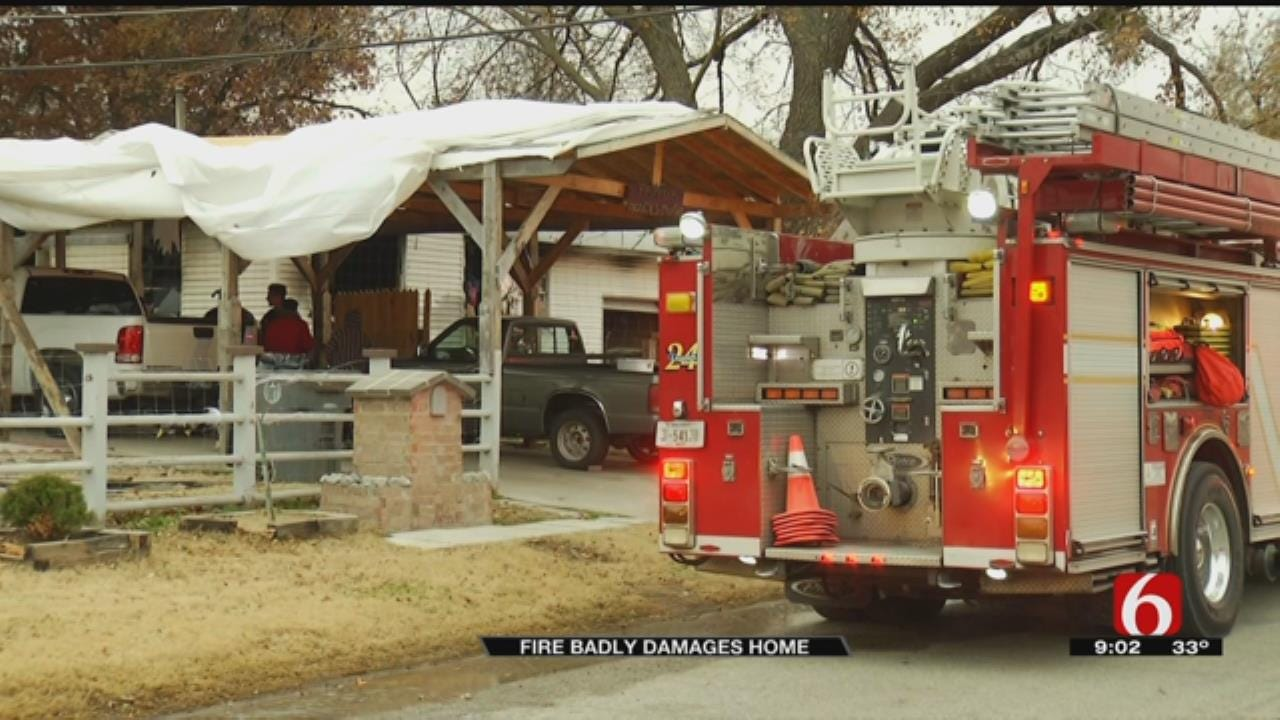 Firefighters Responding To House Fire In Tulsa