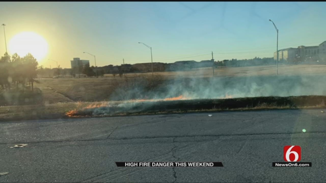 Firefighters Respond To Grass Fires Across Oklahoma