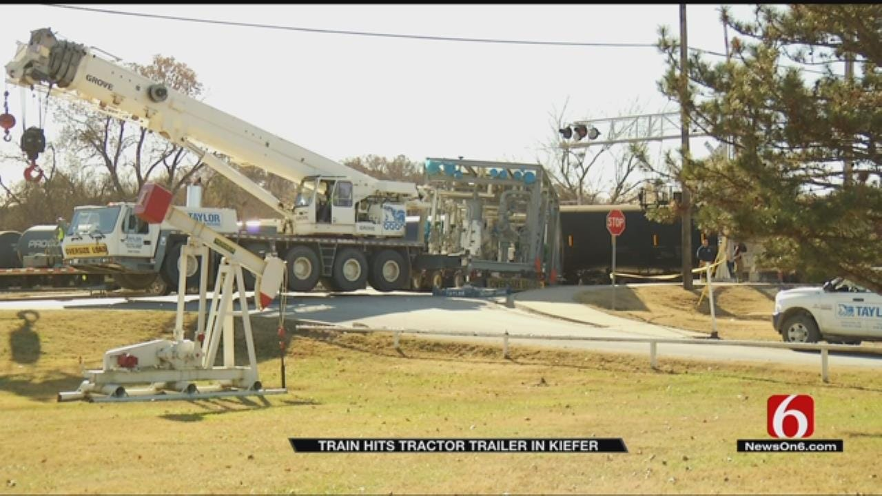 Train Collides With Truck In Kiefer