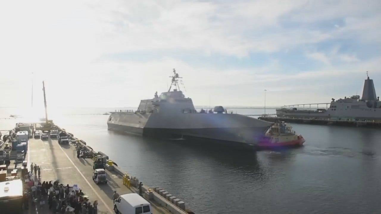 US Navy Video: USS Tulsa Arrives In San Diego