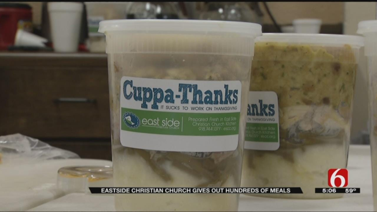 Tulsa Church Hands Out Thanksgiving In A Cup