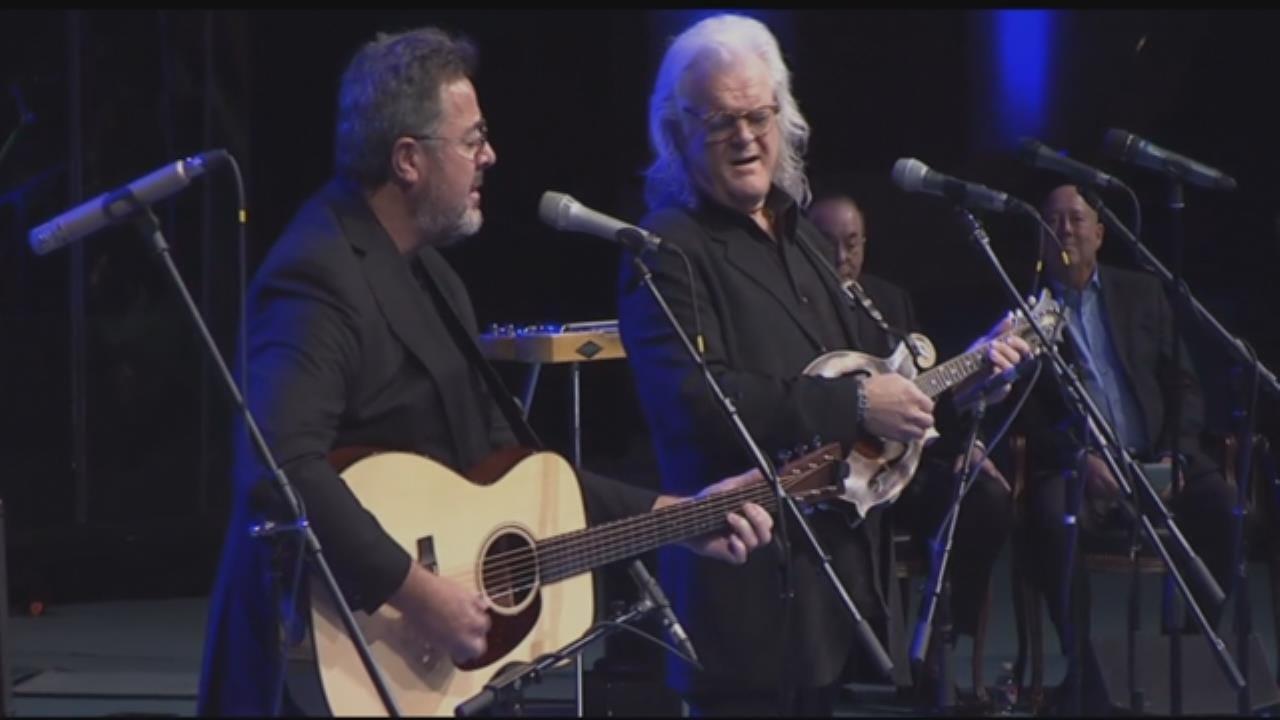 Vince Gill & Ricky Skaggs Perform At Roy Clark Memorial