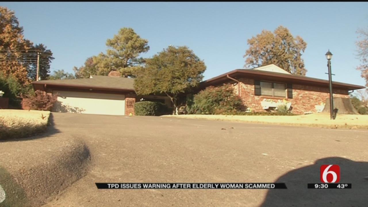 Scammers Target Elderly Tulsa Woman, Police Say