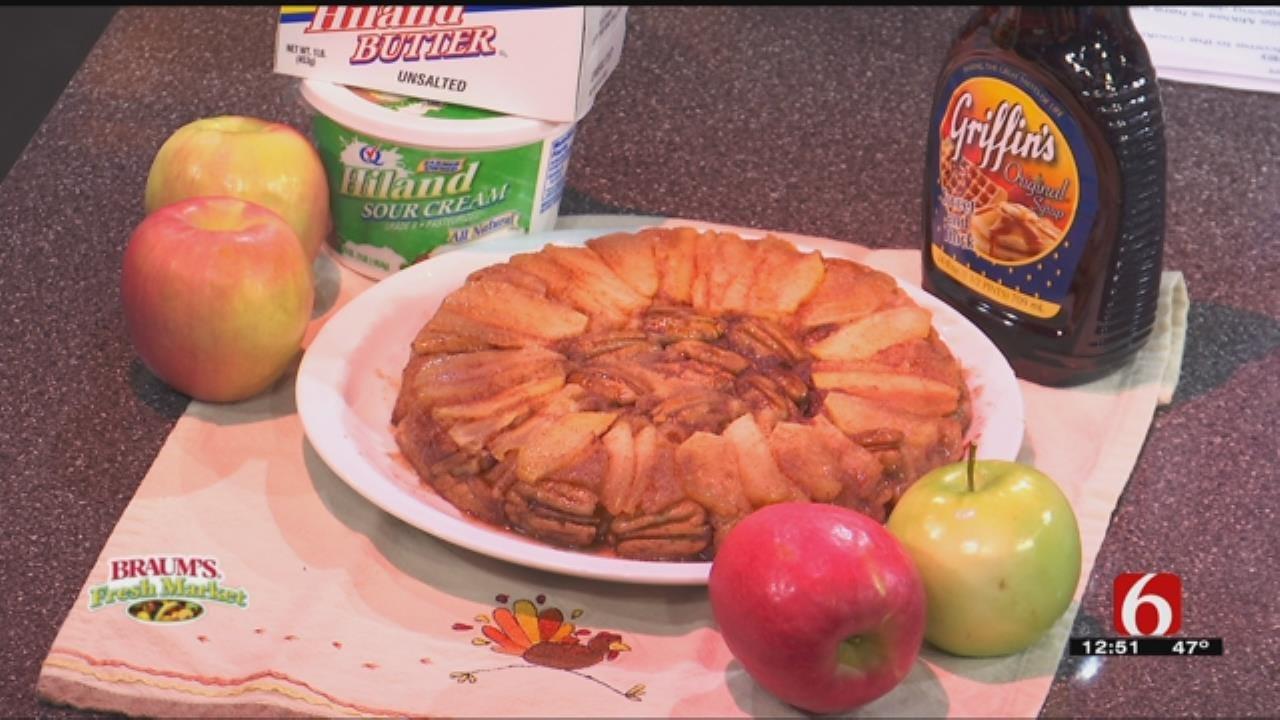Upside Down Apple Skillet Cake