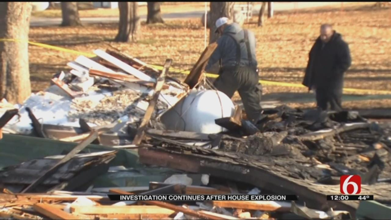Investigation Search Through Debris After Leonard Home Explodes