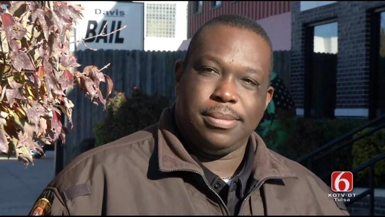 WEB EXTRA: Deputy Justin Green On Suspicious Backpack At Tulsa Jail