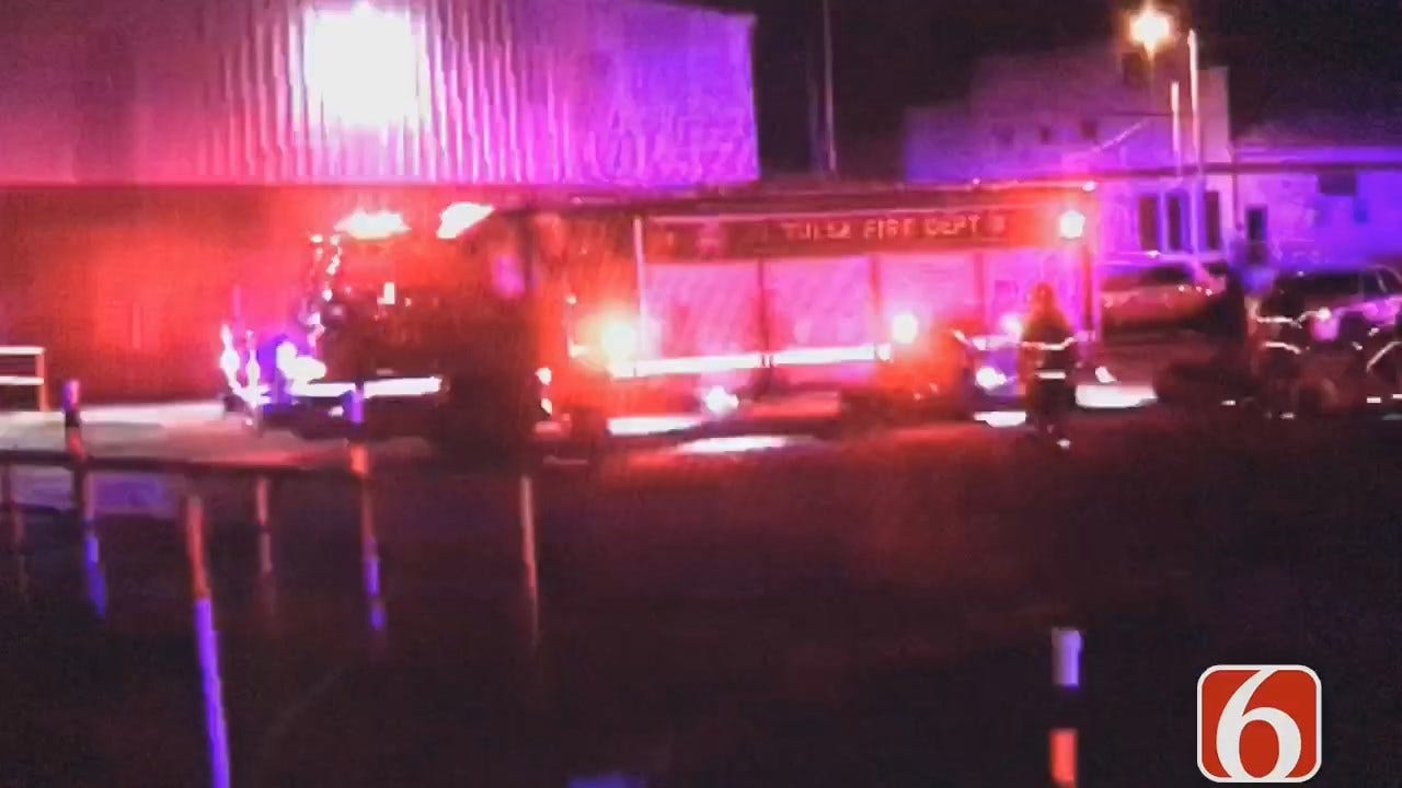 Dave Davis Reports Tulsa Fire's Swift Water Rescue Crews Pull 2 Men From Arkansas River
