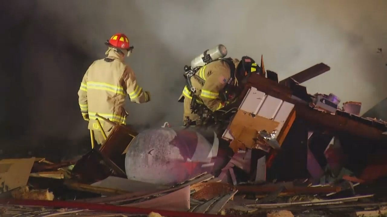 WEB EXTRA: Video From Scene Of Leonard House Explosion And Fire