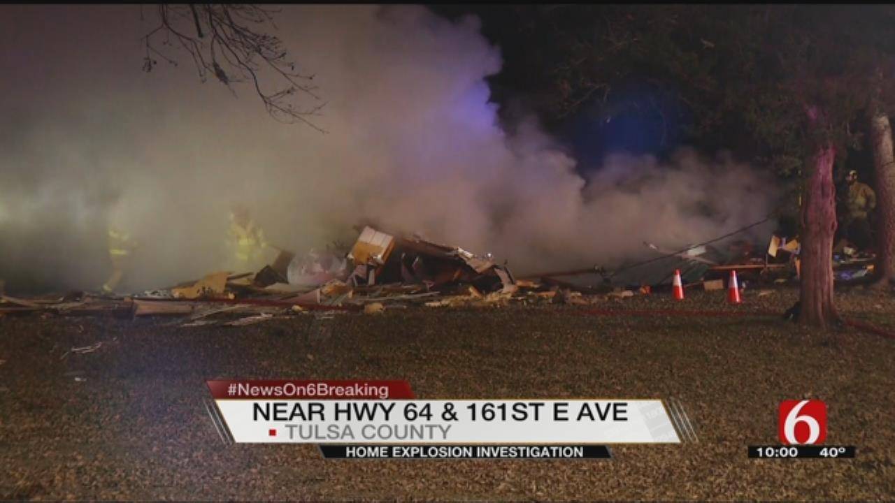 Explosion, Fire Destroys House Near Leonard