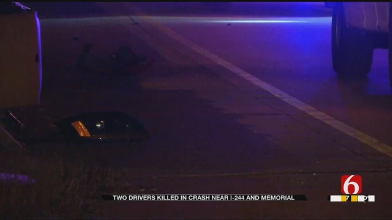 2 Killed In Crash Along Interstate 244 in Tulsa