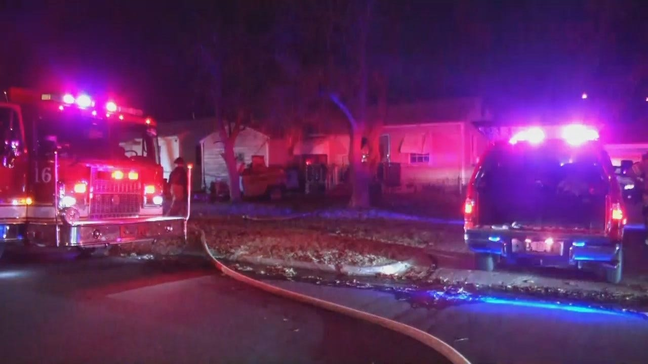 WEB EXTRA: Fire Forces Tulsa Residents From Their Home