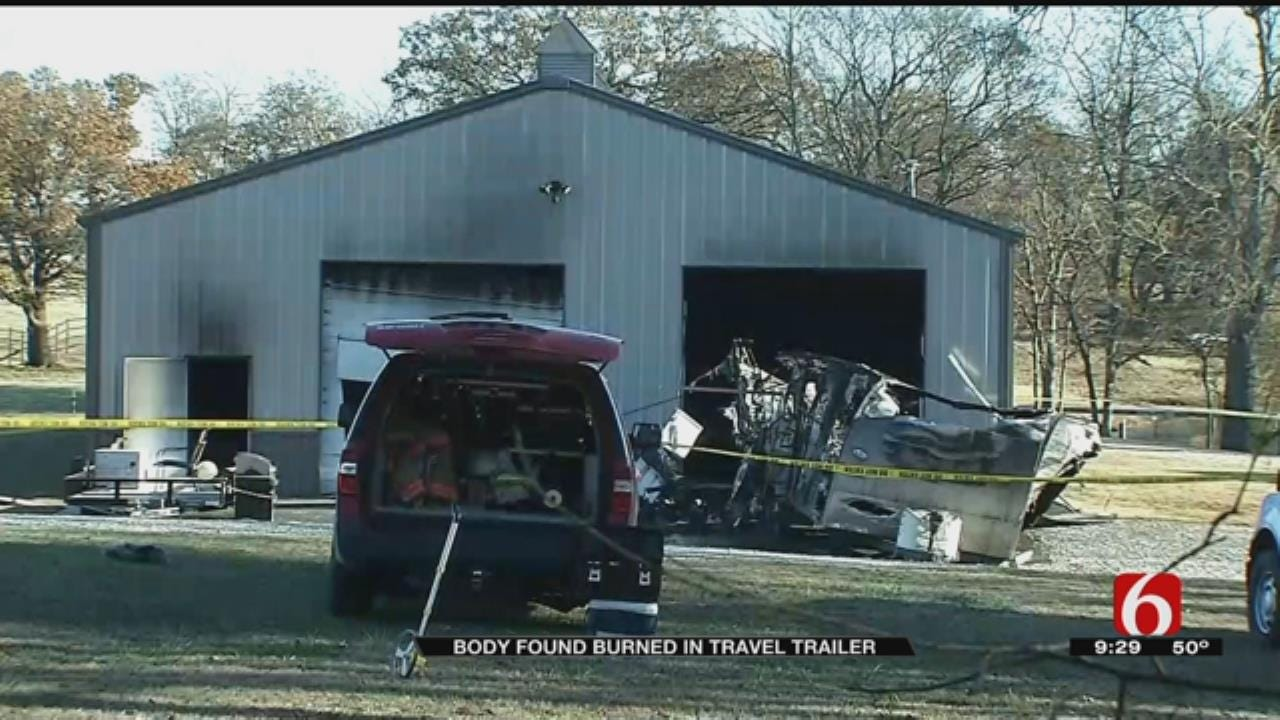 Body Found In Burned Out Trailer In Rogers County