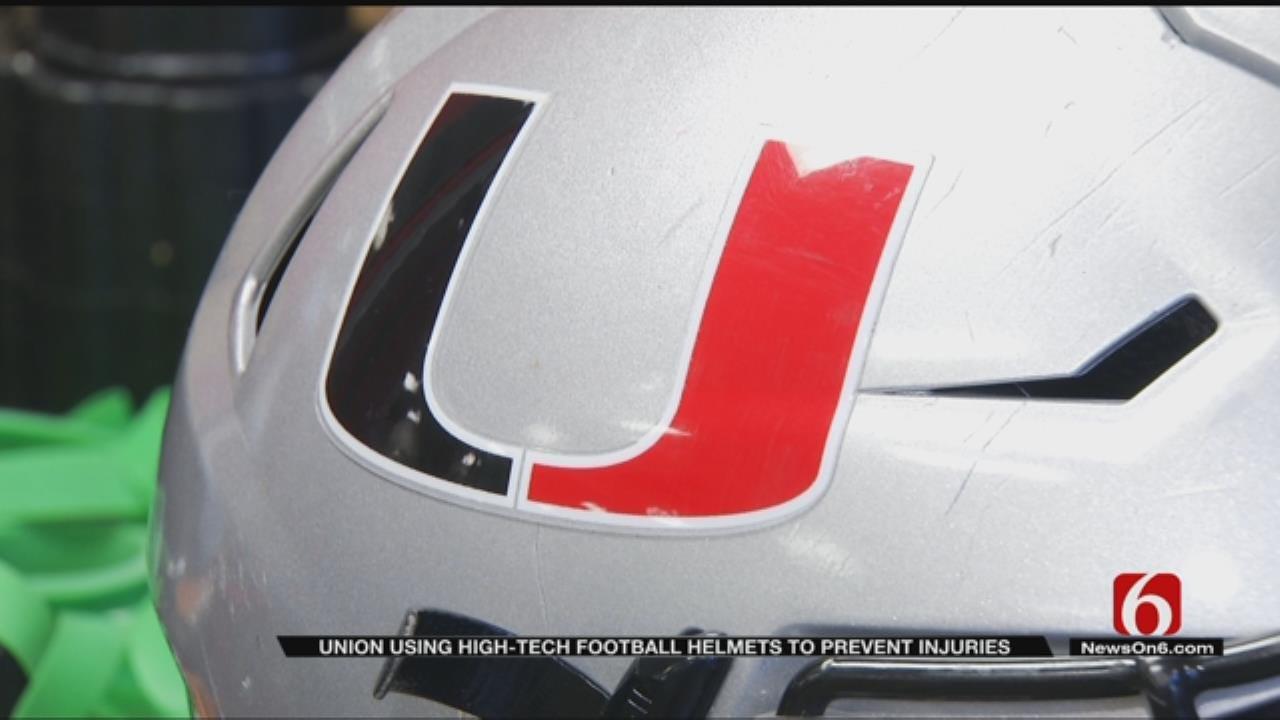 Union Football Teams Using New High Tech Helmets