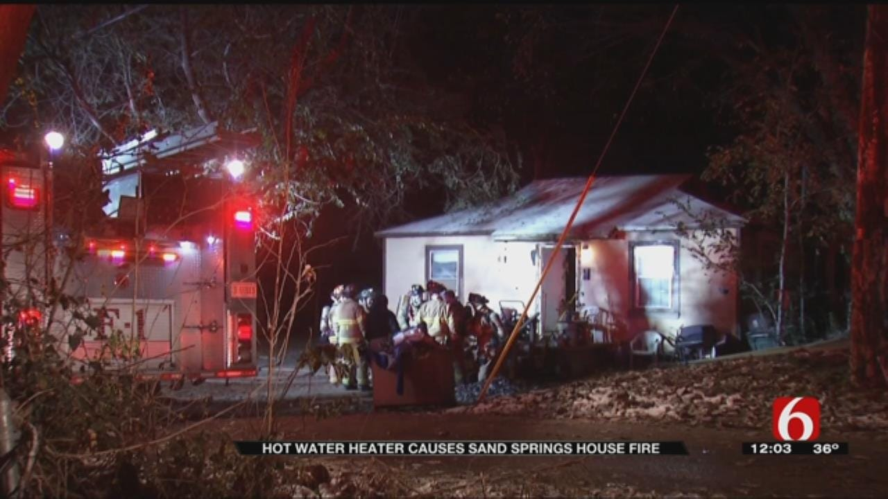 Sand Springs Family Forced Out Into Cold Due To House Fire