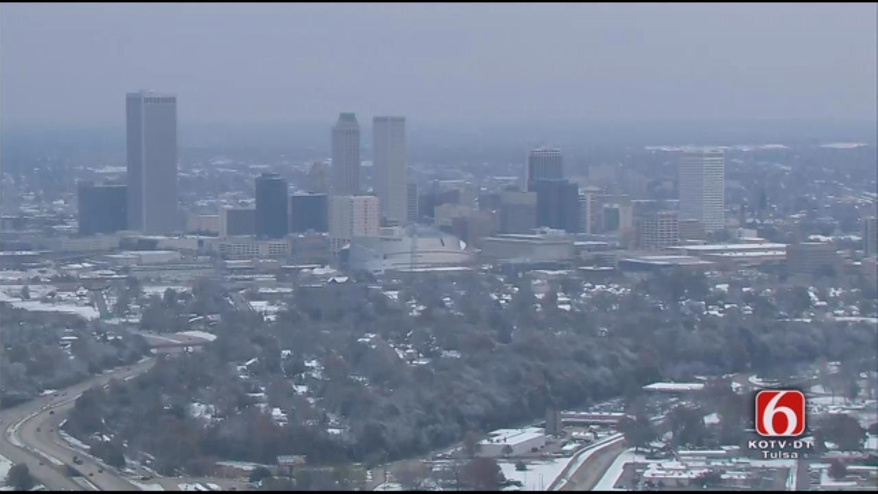 WEB EXTRA: Osage SkyNews 6 HD Over Scenic Snowfall In Tulsa