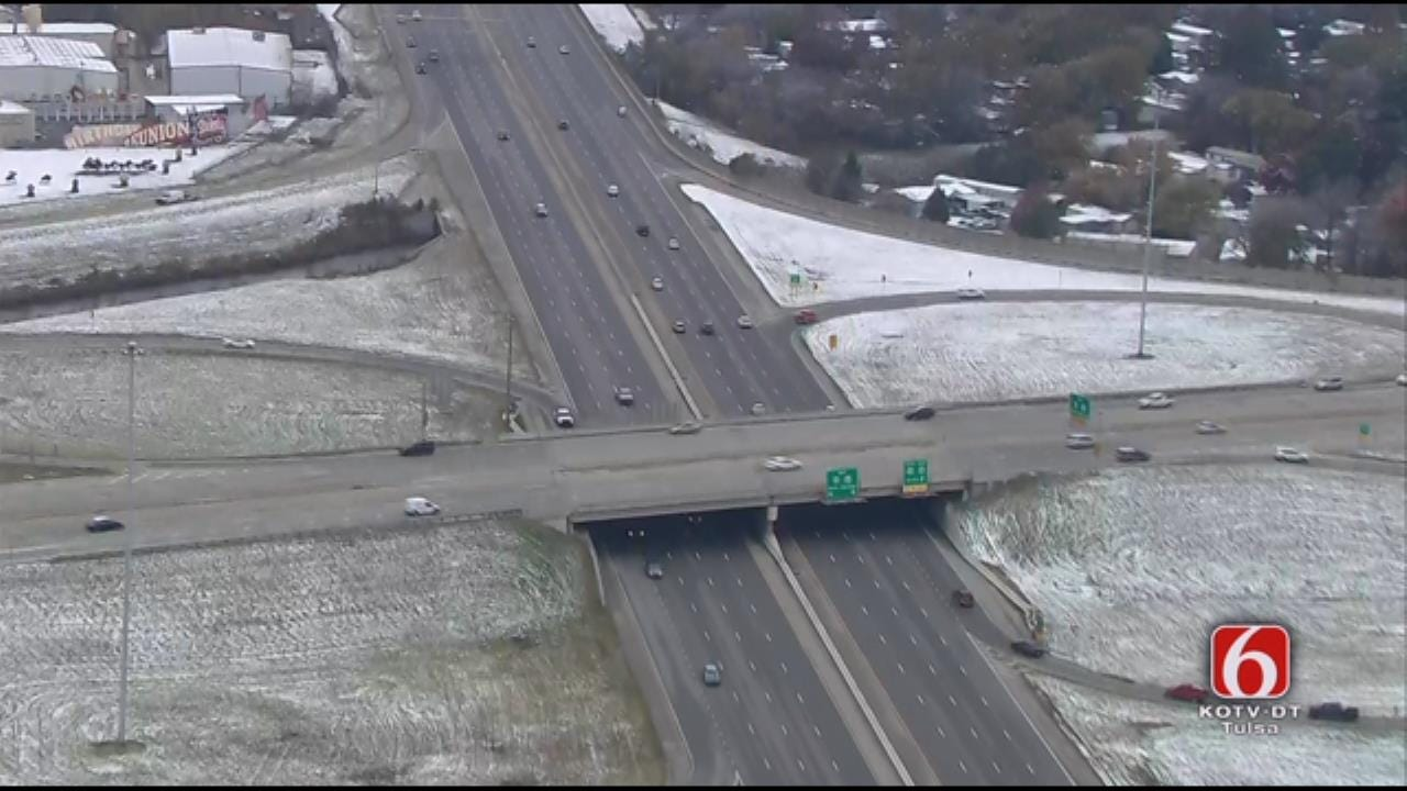 Snowfall Aerials: Osage SkyNews 6 HD Checks Out Tulsa's Snowfall