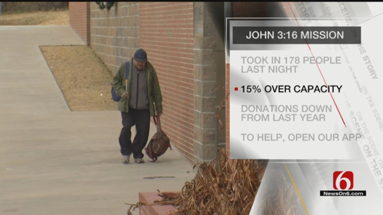 Tulsa Shelter Expecting Nearly 200 People As Temperatures Drop
