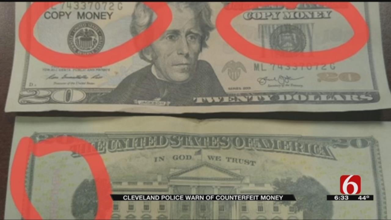 Cleveland Police Investigating Fake Money Scam
