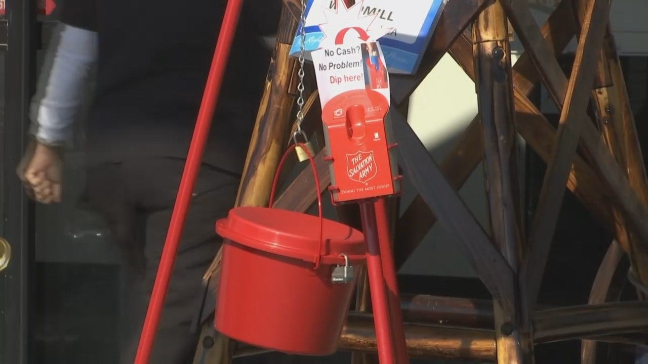 WEB EXTRA: Salvation Army In Tulsa Kicks Off Red Kettle Campaign Today