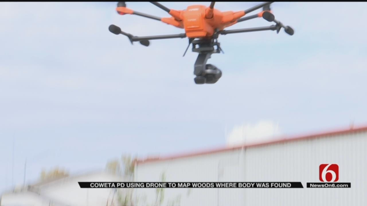 Coweta Police Use Drone To Search Area After Finding Woman's Body
