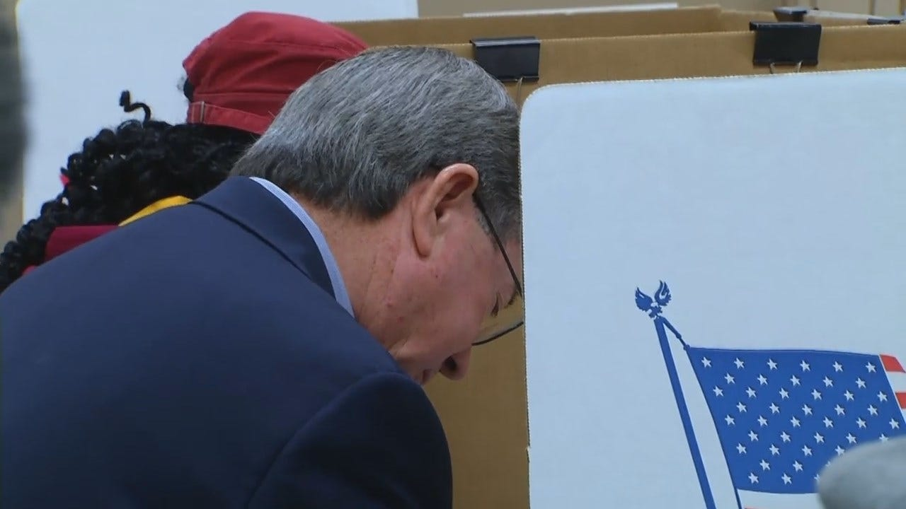 WEB EXTRA: Video Of Drew Edmondson, Wife Voting In OKC