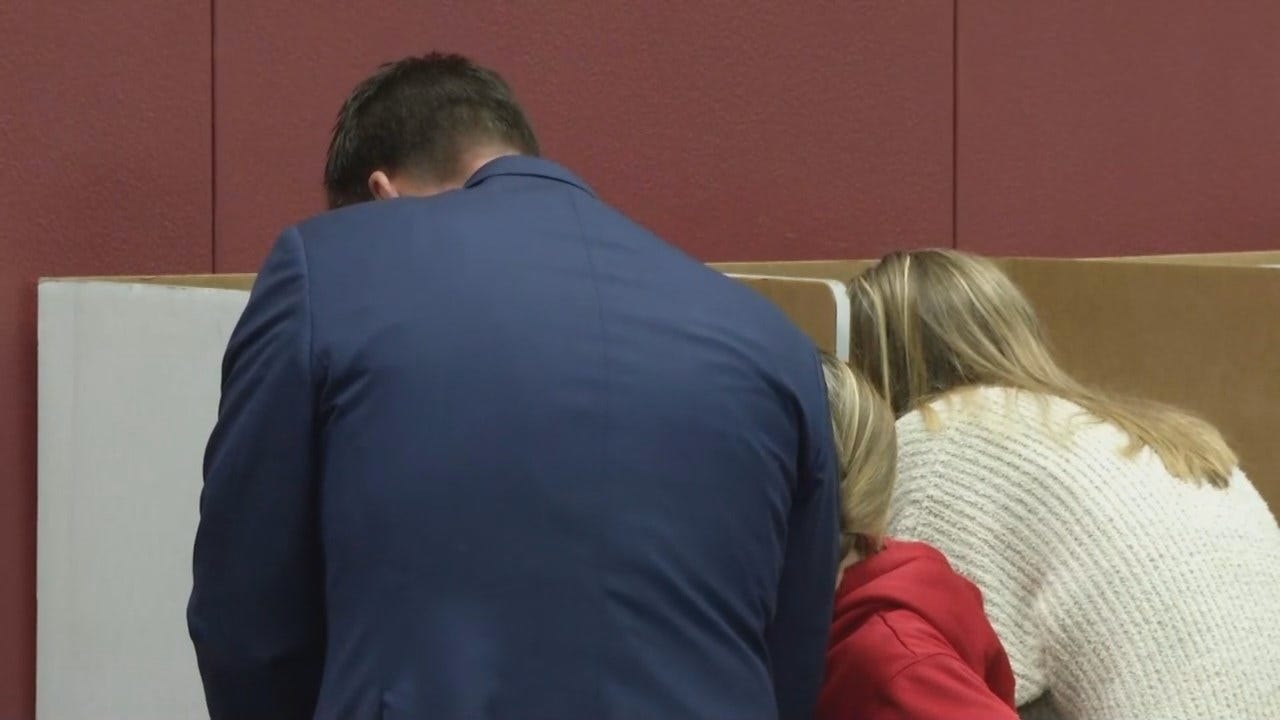 WEB EXTRA: Video Of Kevin Stitt, Wife & Daughter Voting In Jenks