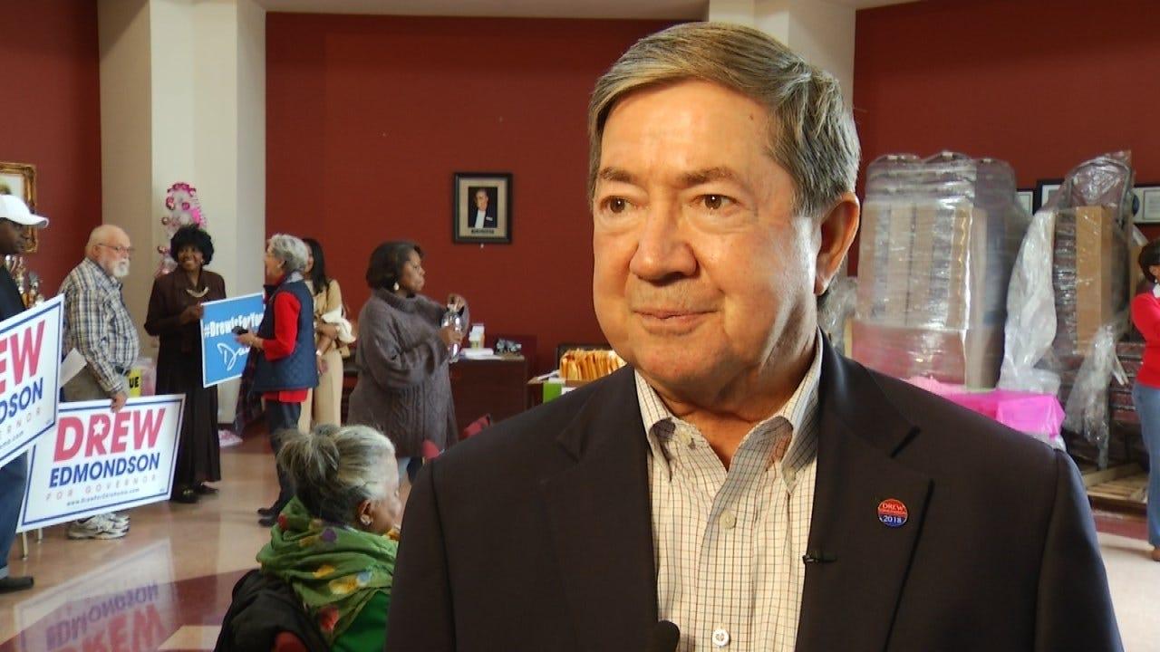 Drew Edmondson In Tulsa Ahead Of Tuesday's Election