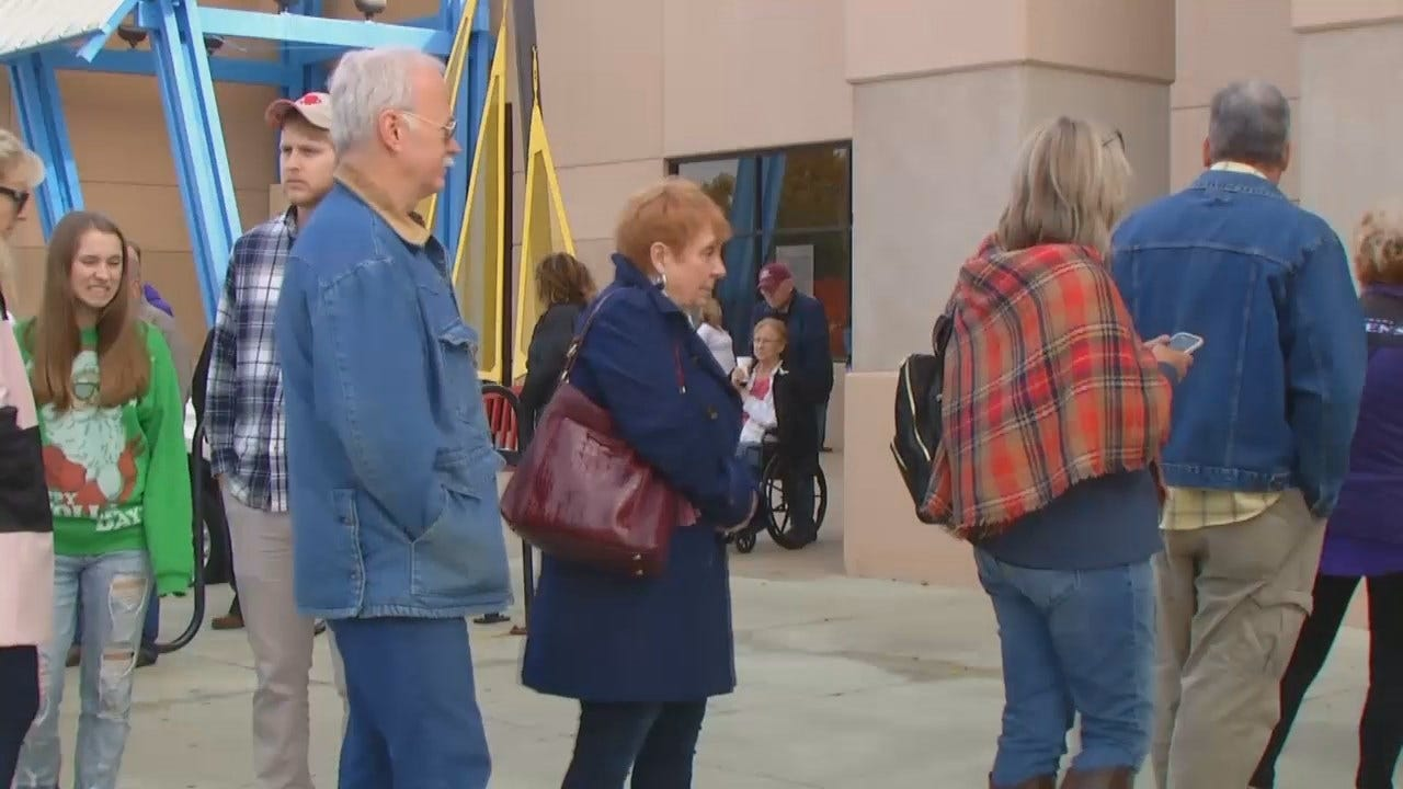 WEB EXTRA: Voters Wait In Line To Cast An Early Election Ballot