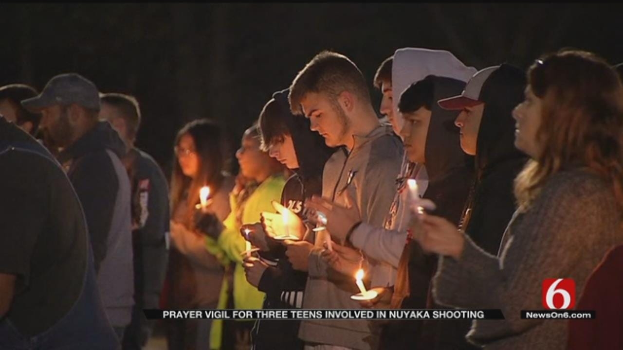 Beggs Community Holds Prayer Vigil For Victims Of Triple Shooting