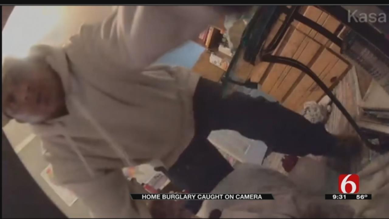 Suspect Caught On Camera Breaking Into Tulsa Home