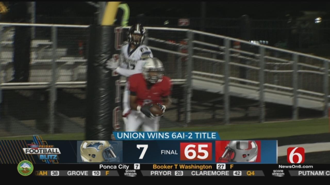 Friday Night Football Union Defeats Tuttle 65-7