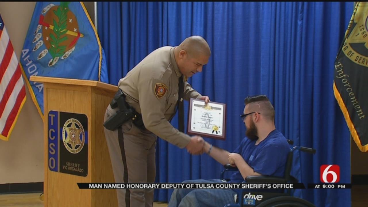 19-Year-Old Named Honorary Tulsa County Deputy