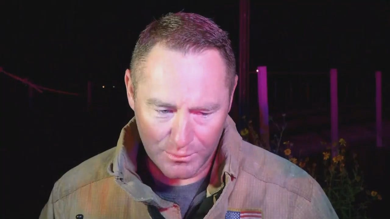 WEB EXTRA: Tulsa Fire District Chief Jason Gilkison Talks About The Possible Rescue